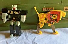 1986 Takara Transformers G1 Cassette Action Figures - Steel Jaw and Autobot