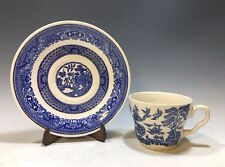 EIT England Stoneware Blue Willow Pattern Cup And Saucer