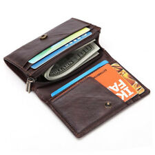 Mens Mini Leather RFID Wallet Slim Small ID Credit Card Holder Coin Zipper Purse