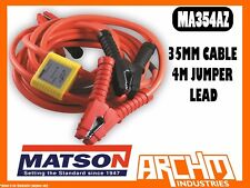 MATSON MA354AZ 35MM CABLE 4MTR JUMP LEADS ANTI-ZAP BATTERY AMP CLAMPS INSULATED