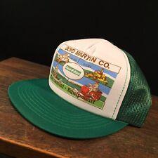 Vintage Hat Rain Bird Boyd Martin Trucker Cap Adjustable Snapback Mesh