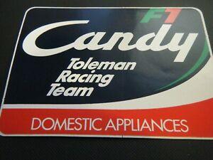 CANDY TOLEMAN FORMULA 1 F1 STICKER BRIAN HENTON DEREK WARWICK BRUNO GIACOMELLI