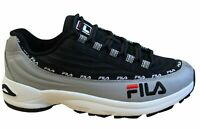 Fila Dstr97 Black Textile Low Lace Up Mens Trainers 1010570.12P