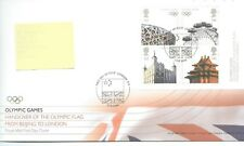 GB - FIRST DAY COVER - FDC - MINI SHEET -2008- OLYMPICS HANDOVER - Pmk London