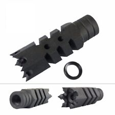 Steel 1/2x28 Thread .223 Competition Muzzle Brake + Washer