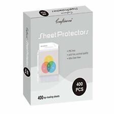 Craftinova 400 Sheet Protectors 3 Hole Lightweight Binder Sleeves Designed To
