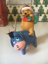 Eeyore Helps Out Christmas Disney Hallmark Keepsake Winnie Pooh Ornament NIB