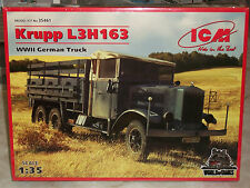 ICM 1/35 Scale German Krupp L3H163, 3 Ton Truck - Factory Sealed
