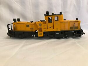 LGB 20670 G Scale Track Cleaning Diesel Locomotive - Yellow