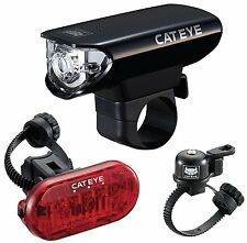 CatEye Bicycle LED Headlight + Tail Light + Bell Combo Kit