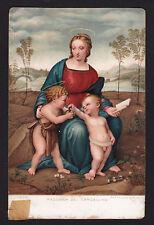 c1907 Stengel art by Raffaello Sanzio Madonna del Cardellino religion postcard