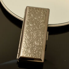 Pure Copper Silver Embossed Metal Cigarette Case Outdoor Waterproof Portable