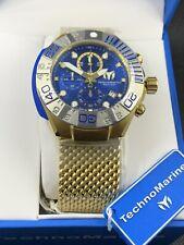 TECHNOMARINE Black Reef Gold-tone Mesh Chronograph Men's Watch TM-519004 NEW!