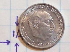 COIN SPAIN 1959 10 CENTIMOS ALUMINUM FRANCISCO FRANCO CAUDILLO DE ESPANA POR LA