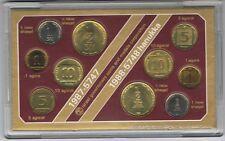 ISRAEL 1987 OFFICIAL UNC SET +1988 HANUKKA UNC SET w/MINT MARK-10 COINS+COA+CASE