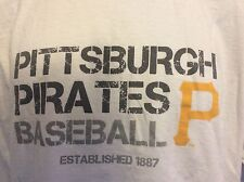 Pittsburgh Pirates Baseball Adult Mens Size S Small White TEE T-Shirt SGA Promo