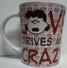 Valentines Day Coffee Mug Love Drives Me Crazy Ceramic Tea Cup Gibson