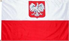 Grand Drapeau POLOGNE Polonais 150 x 90 cm Polyester Léger avec Oeillets Eyelet