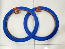 20 x 2.125 (57-406)  TWO BLUE TIRES  HIGH QUALITY  BMX STREET TIRE