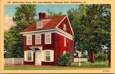 Postcard  Little Street House Wm Penn Mansion Fairmount Park Philadelphia Pa