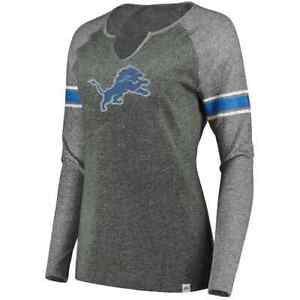 Detroit Lions NFL Women's Majestic Static Varsity Tee, Size XLarge, New With Tag