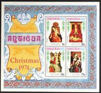 AT044 ANTIGUA 1974 Christmas, Paintings S/S Mint NH
