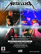 "METALLICA ""WORLDWIRED TOUR 2017 SINGAPORE"" CONCERT POSTER - Heavy/Thrash Metal"