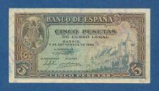 ESPAÑA // SPAIN -- 5 PESETAS ( 1940 ) -- EBC // XF -- SERIE D -- PICK 123a .