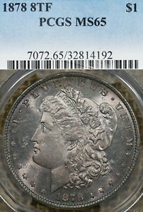 1878 8TF PCGS MS65 Morgan Silver Dollar - 8 Tail Feather
