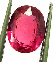 2.66 Ct Natural Certified Ruby Loose Gemstone Oval Cut Mozambique Stone - 132964