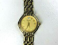 Vintage Bulova Ladies Watch Gold Tone - Faux Diamond - Women's Wrist Watch Works