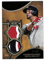 2019 Topps Tier One Xander Bogaerts 5/25 dual prime patch card Red Sox
