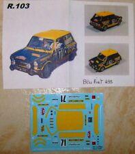 AUTOBIANCHI A112 ABARTH RALLYE MONTE CARLO 1976 GIORGIO PIANTA DECALS TRON 1/43