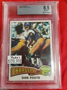 1975 TOPPS DAN FOUTS RC BVG 8.5 NM-MT+ ROOKIE