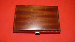 Vintage Solid Wood Lined Card Box