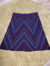 Monsoon A Line Skirt Size 16 Brown Patterned Lined Wool
