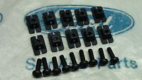 MK2 ESCORT XD FALCON GENUINE FORD NOS GRILL MOUNTING CLIPS & SCREWS - SET OF 10
