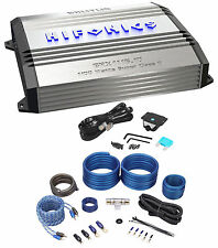 New! Hifonics Brutus BRX1116.1D 1100 Watt RMS Class D Mono Amplifier + Amp Kit
