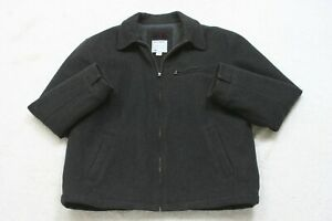 Old Navy Gray Wool Jacket Coat Zipper Front Mens Mans Long Sleeve Extra Large XL