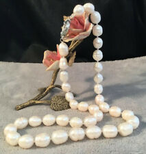 Stunning Genuine natural Ivory South Sea Baroque Pearl Single Strand Necklace