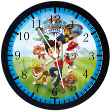 PAW Patrol Black Frame Wall Clock Nice For Decor or Gifts E69
