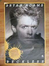 1984 Original Bryan Adams Reckless Promotional Poster
