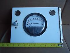 Magnehelic Pressure Gauge 2002C - Max 15 PSIG with Door, Hinge & Latch Steampunk