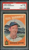 1959 Topps BB Card #191 Russ Kemmerer Washington Senators PSA NM-MT 8 !!!!