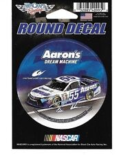 """BRIAN VICKERS #55 AARON'S 2015 CAR WINCRAFT 3"""" ROUND DECAL STICKER"""