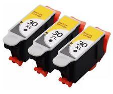3PK Black Ink For Kodak 30XL ESP 3.2 ESP C310 C315 Office 2150 2170 Hero 3.1 4.2