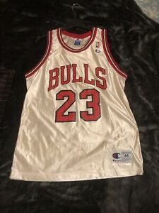 Vintage White Michael Jordan Bulls Jersey #23 One Owner Original Champion HOF!!!