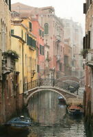 Wall Art Hd Print Venice Alley Landscape Oil painting Printed on Canvas P100