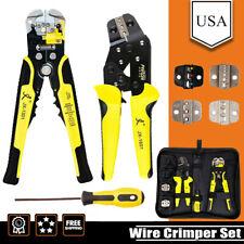 4 In 1 Wire Crimper Tools Kit Terminal Crimping Plier Stripper Set End Terminals