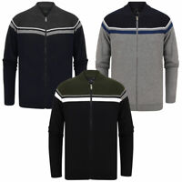 Dissident Men's Magic Crew Neck Zip Up Cardigan Knitted Bomber Jacket Track Top